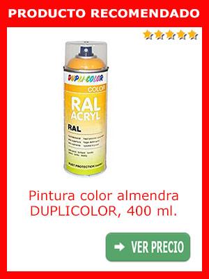 Pintura color almendra DUPLICOLOR 400 ml.