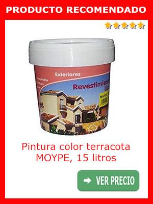 Pintura color terracota MOYPE, 15 litros