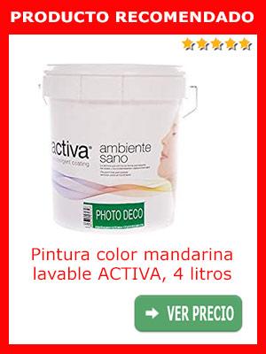 Pintura color mandarina ACTIVA, 4 litros