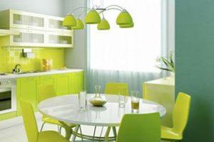Pintura color verde manzana