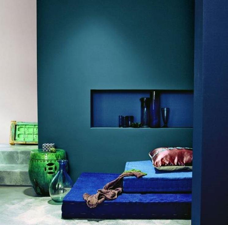 El ambiente de una casa en azul.