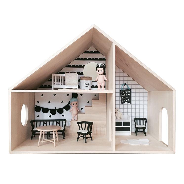 Casa de muñecas de cartón: la estructura