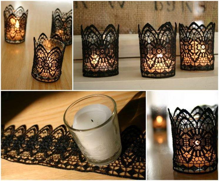Velas decoradas con bricolaje
