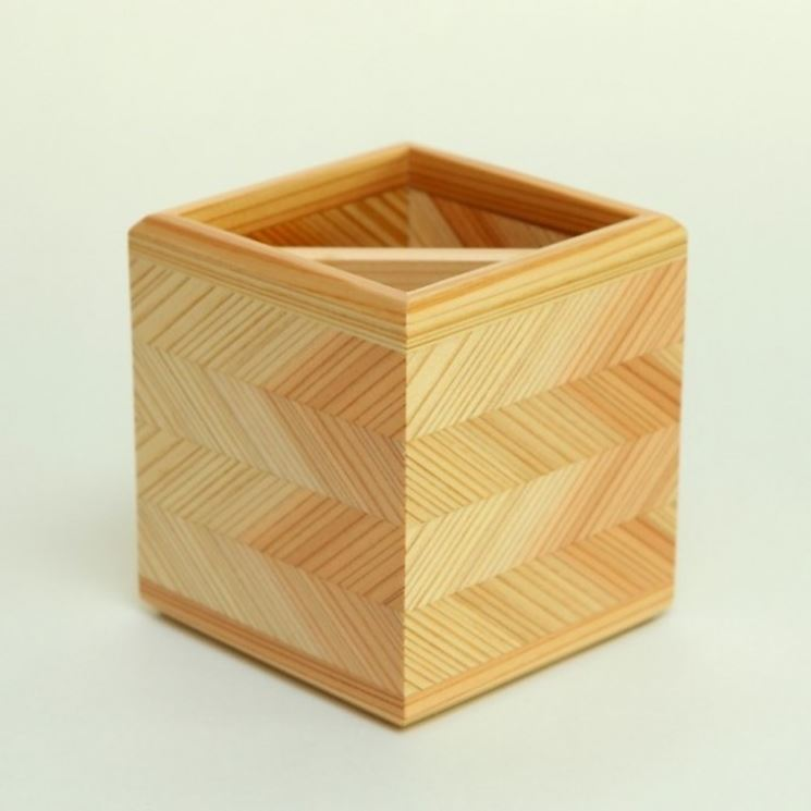 Portalápices de madera