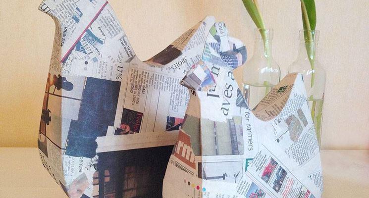 Una creación en papel maché