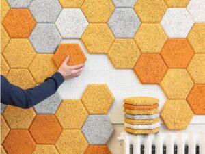 Baldosas hexagonales acústicas