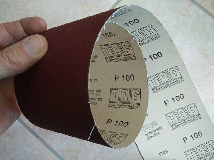 papel de lija P100